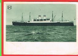 "CPSM Hamburg America Linie  Paquebot ""New York"" - Piroscafi"