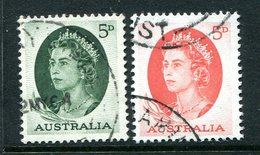 Australia 1963-65 QEII Definitives Set Used - 1952-65 Elizabeth II : Pre-Decimals