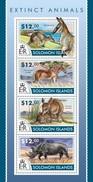 SOLOMON ISLANDS 2015 SHEET EXTINCT ANIMALS ANIMAUX DISPARUS ANIMALI ESTINTI ANIMALES EXTINGUIDOS Slm15215a - Isole Salomone (1978-...)