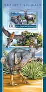 SOLOMON ISLANDS 2015 SHEET EXTINCT ANIMALS ANIMAUX DISPARUS ANIMALI ESTINTI ANIMALES EXTINGUIDOS Slm15215b - Isole Salomone (1978-...)