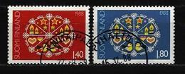 FINNLAND - Mi-Nr. 1066 - 1067 Weihnachten 1988 Gestempelt (2) - Finnland