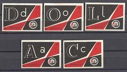 MATCHBOX LABELS / SAFETY MATCHES - DOLAC Factory, 5 Pcs - Boites D'allumettes - Etiquettes