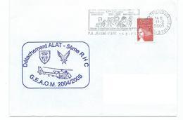 15680 - HELICOPTERE - DETACHEMENT ALAT -5ème RHC -  GEAOM 2004-2005 -  A Bord Du PH JEANNE D'ARC - Naval Post