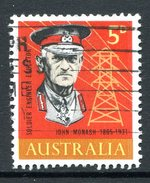 Australia 1965 Birth Centenary Of General Sir John Monash Used - 1952-65 Elizabeth II : Pre-Decimals