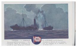 """FRANCE - COMPAGNIE DES MESSAGERIES MARITIMES --PAQUEBOT """"BASQUE"""" --TORPILLE LE 18 FEVRIER 1918--NON CIRCULEE  --TTB - Paquebots"""