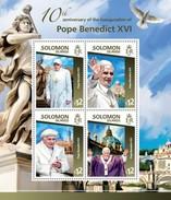 SOLOMON ISLANDS 2015 SHEET POPE BENEDICT XVI PAPES PAPAS POPES RELIGION Slm15104a - Salomon (Iles 1978-...)