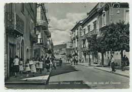 San Giovanni Rotondo (Foggia) - Corso Umberto Con Vista Del Convento (Animazione) - Viaggiata 1962 - S.Giovanni Rotondo - Greece