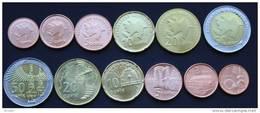 Azerbaijan 2006 (ND) UNC / BU ( 1,3,5,10,20,50 Qapik Coin Set - 6pc ) - Azerbaïjan