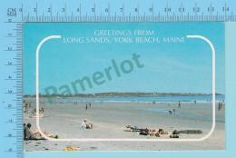 Greetings From York Beach Maine USA -   2 Scans - Souvenir De...