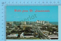 Hello Frim Fort Lauderdale Fl. USA - 2 Scans - Souvenir De...