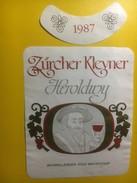 3897 - Zürcher Klevner 1987 Heroldwy Suisse - Etiquettes