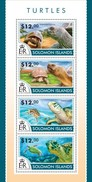 SOLOMON ISLANDS 2015 SHEET TURTLES TORTUES TORTUGAS TARTARUGAS SCHILDKROTEN TARTARUGHE MARINE LIFE REPTILES Slm15203a - Isole Salomone (1978-...)