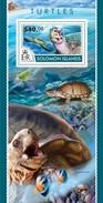 SOLOMON ISLANDS 2015 SHEET TURTLES TORTUES TORTUGAS TARTARUGAS SCHILDKROTEN TARTARUGHE MARINE LIFE REPTILES Slm15203b - Isole Salomone (1978-...)