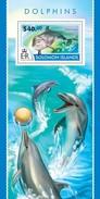 SOLOMON ISLANDS 2015 SHEET DOLPHINS DAUPHINS DELFINEN DELFINI DELFINES GOLFINHOS MARINE LIFE Slm15208b - Isole Salomone (1978-...)