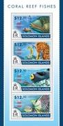 SOLOMON ISLANDS 2015 SHEET CORAL REEF FISHES POISSONS PEIXES PECES MARINE LIFE Slm15209a - Isole Salomone (1978-...)
