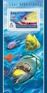 SOLOMON ISLANDS 2015 SHEET CORAL REEF FISHES POISSONS PEIXES PECES MARINE LIFE Slm15209b - Isole Salomone (1978-...)
