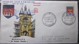 Enveloppe FDC 267 - 1958 - Bordeaux Blason Armoiries - YT 1183 - France