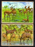 1975    Koudou, Antilope, Impala, BF 44 / 45**, Cote  55 €, - Rwanda