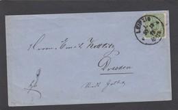 BRIEF VON LEIPZIG NACH DRESDEN,1875. - Lettres & Documents