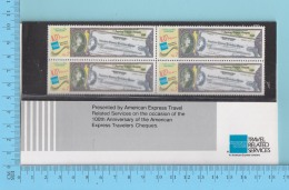 Pakistan 1991 MNH** - # 759 Block Of 4,  Presented By American Express Travel -  5 Scans - Pakistan