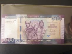 Libéria   500 Dollars    2016  -  UNC - Liberia