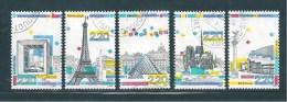 France   Timbres De 1989  N°2579 A 2583  Oblitéres - France