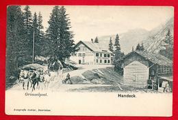 Handeck. Hôtel-Restaurant Handeck. Grimselpost. Diligence De La Poste.  Ca. 1900 - BE Berne