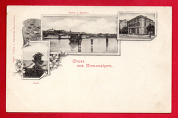 Gruss Aus Romanshorn. Hafen, Bahnhof, Inseli.  ( Port, Gare Et Embarcadère Inseli) Ca. 1900 - TG Thurgovie