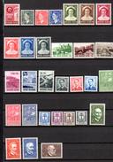 1953   Année Complète, Baudoin, Joséphine-Charlotte, Tourisme, Idée Européenne, Savants, 908 / 937**, Cote 325 €, - Belgium