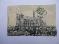 CPA 80 - SOMME - AMIENS LA CATHEDRALE VUE PRISE DU COUVENT DE LOUVENCOURT - Amiens