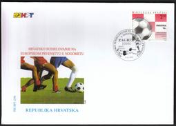 Croatia Zagreb 1996 / Football, Soccer / Croatia On The European Championship / FDC - Europei Di Calcio (UEFA)