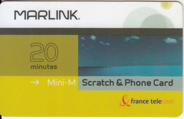 TAAF - Marlink/France Telecom Satellite Prepaid Card 20 Min, Exp.date 31/05/04, Used - TAAF - French Southern And Antarctic Lands