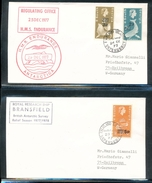 South Georgia Antarctica Surcharged Stamps Ships Bransfield HMS Endurance Cachet Cancel 1977  A04s - Stamps