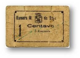 BEJA - Cédula 1 Centavo - Camara Municipal - ND - Catalog. M.A. 381a - PORTUGAL Emergency Paper Money Notgeld - Portugal