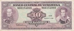 VENEZUELA   10 Bolivares   8/12/1992    P. 61c - Venezuela