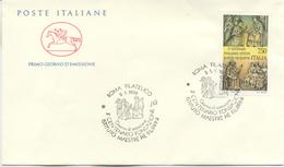 ITALIA - FDC  CAVALLINO 1992 -  FILIPPINI - ANNULLO MARCOFILO ROMA - ANNULLO SPECIALE - 6. 1946-.. Repubblica