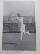 Suzanne Lenglen La Reine Du TENNIS 1926 - Tennis