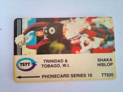 Trinidad Phonecard TT$20 Shaka Hislop 71CTTE