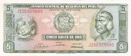 PEROU   5 Soles De Oro   23/2/1968   TDLR   P. 92a   SUP - Peru