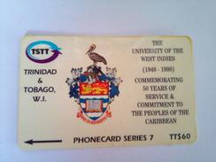 Triniad Phonecard TT$60 Univ Of West Indies 245CTTA