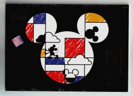 Disney Mickey Mouse,China 2015 Set Of 12 Shanghai Post Disneyland Theme Parks Advert 2016 Calendar Pre-stamped Card - Disney