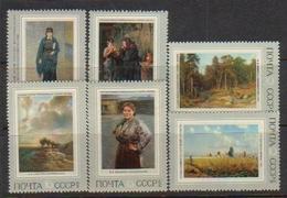 USSR 1971 Mi 3930-3935 - Russian Paintings - Nuevos