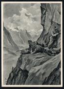 A2699 - Alte Künstlerkarte - 2. WK WW - Rudolf Lipus - Gebirgs Maschinengewehrschützen - Feldpost 1940 - Guerre 1939-45