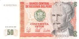 PEROU   50 Intis   26/6/1987   CdM-Brazil   P. 131b   UNC - Pérou