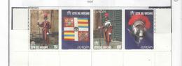 Vaticano 1997 Guardie Svizzere  N.4 Valori .Scott.Strip.1039a+  See Scans - Vatican