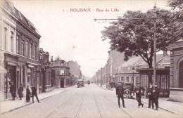 59  - Nord - ROUBAIX -  Rue De Lille ( Facteur, Policiers ) - Roubaix