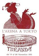 [MD0957] CPM - IN RILIEVO - VERONA - L'ARENA A TOKYO - TURANDOT - CON ANNULLO 23.11.1991 - NV - Verona