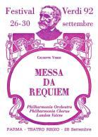 [MD0961] CPM - IN RILIEVO - PARMA - MESSA DA REQUIEM - GIUSEPPE VERDI - TEATRO REGIO - NV 1992 - Parma