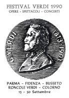 [MD0964] CPM - IN RILIEVO - PARMA - GIUSEPPE VERDI - FESTIVAL VERDI OPERE SPETTACOLI CONCERTI - NV 1990 - Parma