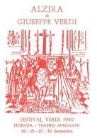 [MD0965] CPM - IN RILIEVO - FIDENZA - ALZIRE DI GIUSEPPE VERDI - FESTIVAL VERDI - TEATRO MAGNANI - NV 1990 - Parma